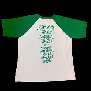 90's Stussy International Tribe Baseball T-Shirt